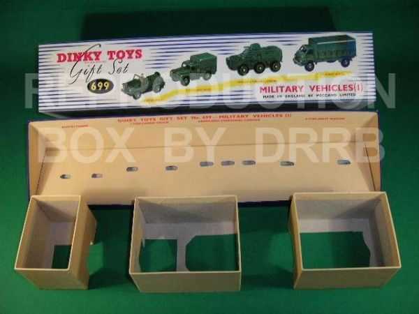 Dinky #699 Military Vehicles 1 Gift Set - Reproduction Box